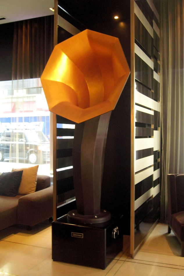 Specimen XL Horn Speakers in Hard Rock Hotel Chicago Lobby