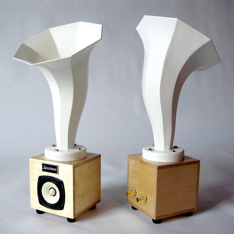 rnlet HI Fi Audio Speakers in White