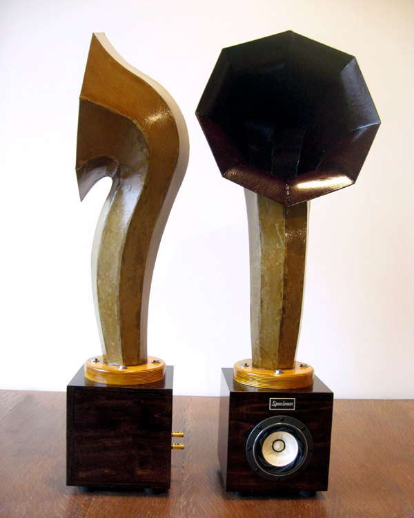 Little Horn Audio Speakers in Dark Walnut