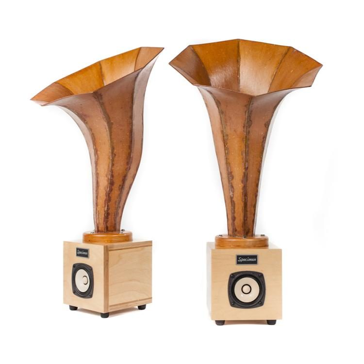 Specimen Hornling Audio Speakers in Natural