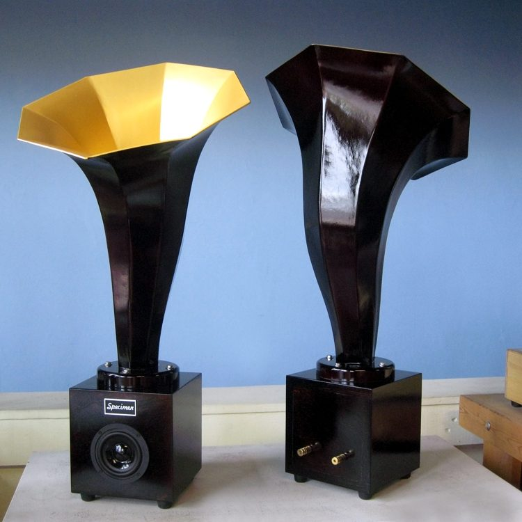 Specimen Hornling Audio Horn Speaker in Black and Gold