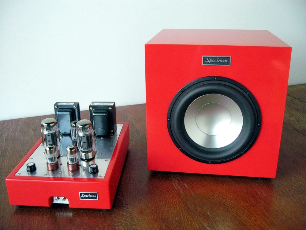 Specimen 300-watt Subwoofer and Hi-Fi Tube Amplifier