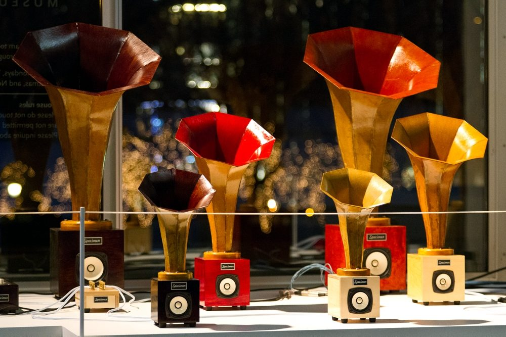 Specimen Hornling Audio Horn Speakers at MCA Chicago