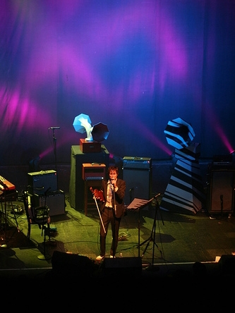 Andrew Bird and his Specimen Horn Speakers at Chicago's Riviera Theater