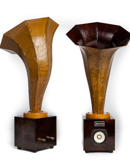 Hornling Hi-Fi Audio Horn Speakers in Dark Walnut