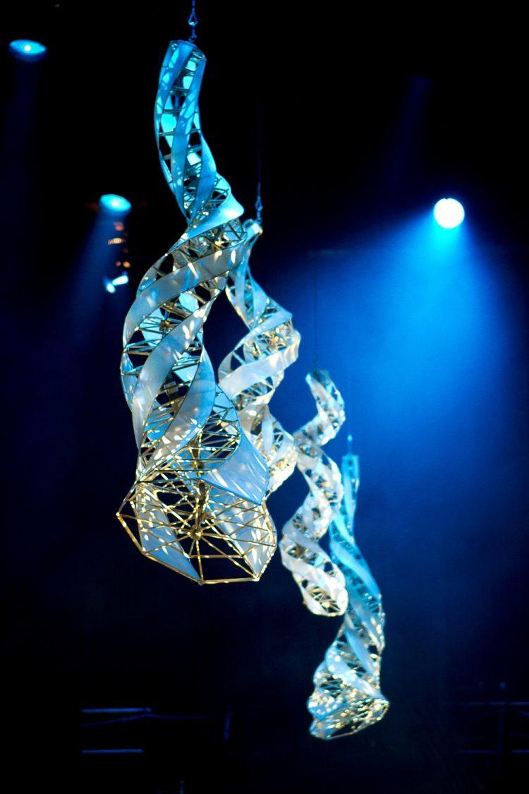 Specimen Aerosel Horn Sculptures at Chicago's Auditorium Theater