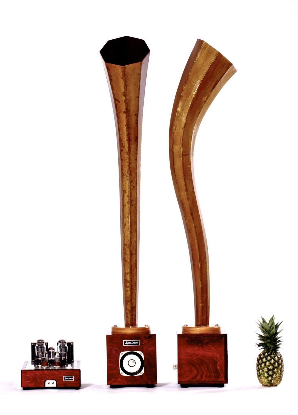 Crimson Plumb Horn Speakers